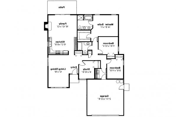 Traditional House Plan - Briggsdale 30-084 - Floor Plan
