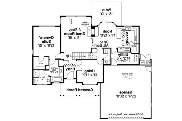 Traditional House Plan - Chivington 30-260 - 1st Floor Plan