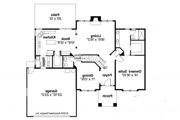 Traditional House Plan - Coleridge 30-251 - First Floor Plan
