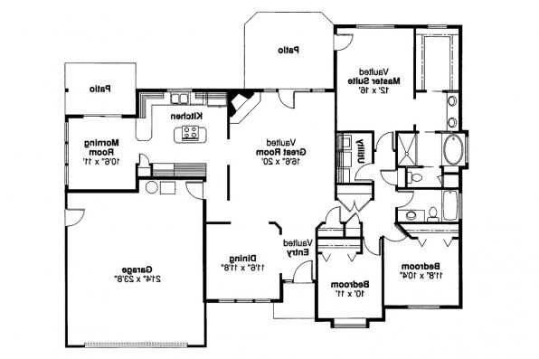 Traditional House Plan - Cottonwood 30-151 - Floor Plan