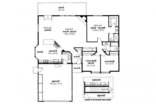 Traditional House Plan - Dakota 10-076 - Floor Plan