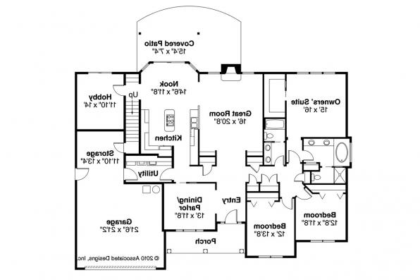 Traditional House Plan - Davidson 30-384 - 1st Floor Plan