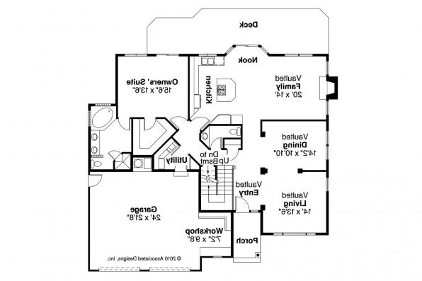 Traditional House Plan - Geneva 10-067 - 1st Floor Plan