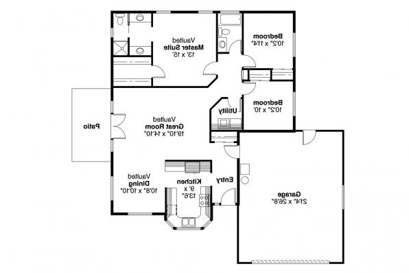 Traditional House Plan - Harney 10-223 - Floor Plan