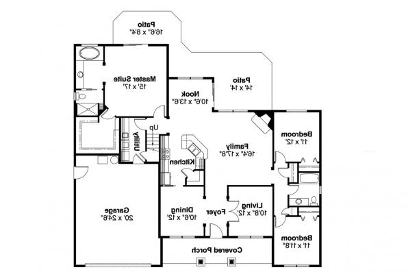 Traditional House Plan - Hennebery 30-520 - 1st Floor Plan