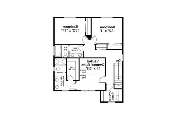 Traditional House Plan - Juneberry 31-107 - Second Floor Plan
