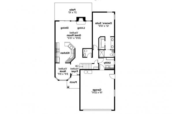 Traditional House Plan - Knollwood 30-324 - 1st Floor Plan
