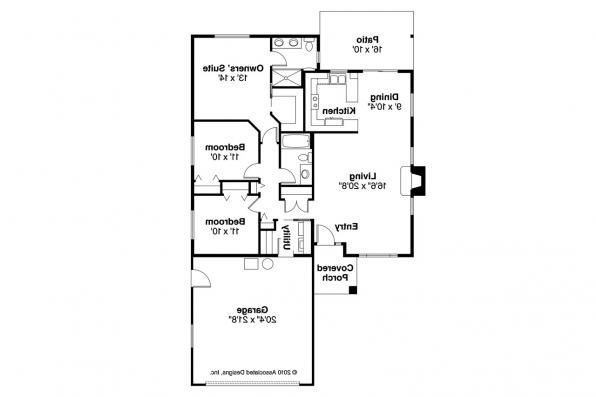 Traditional House Plan - Lorella 30-154 - Floor Plan