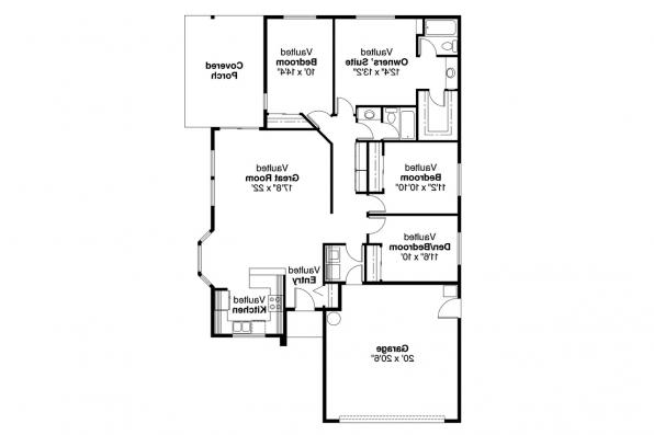 Traditional House Plan - Marshall 10-160 - Floor Plan