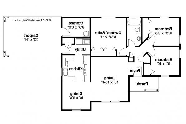 Traditional House Plan - Mattson 30-195 - Floor Plan