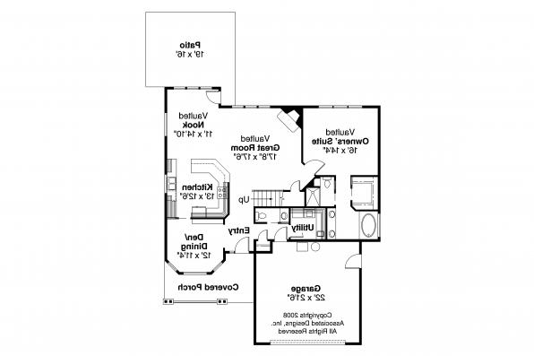 Traditional House Plan - McBride 30-488 - 1st Floor Plan