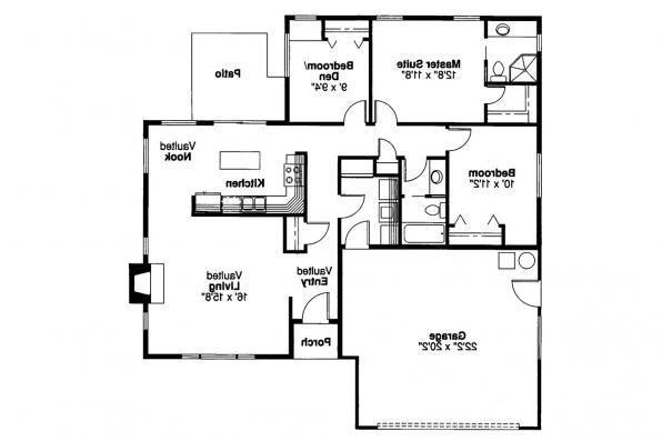 Traditional House Plan - Norden 10-216 - Floor Plan