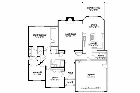 Traditional House Plan - Porterville 30-695 - Floor Plan