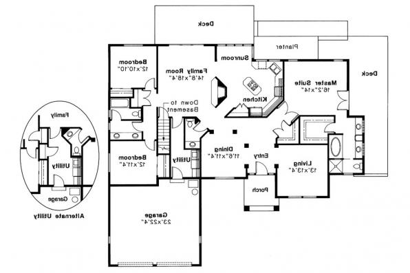 Traditional House Plan - Somerset 10-057 - Floor Plan