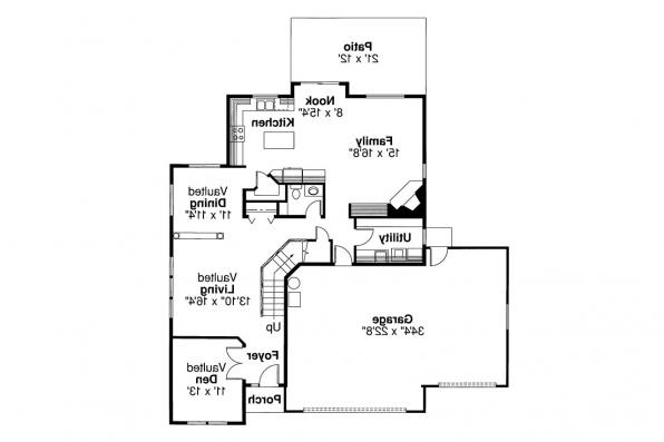 Traditional House Plan - Valemont 30-163 - 1st Floor Plan