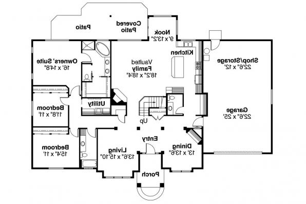 Traditional House Plan - Vicksburg 30-567 - 1st Floor Plan