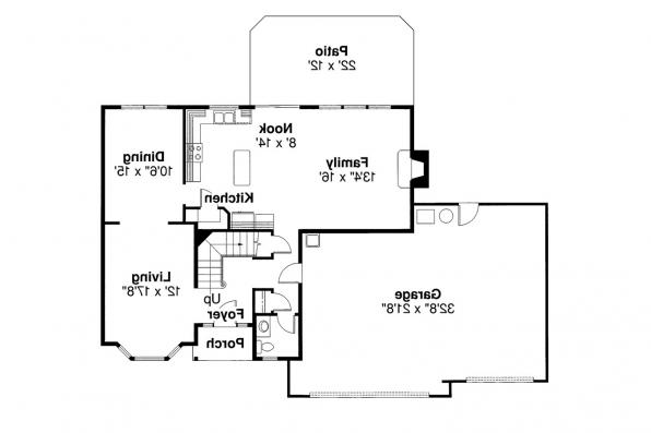 Traditional House Plan - Westhaven 30-173 - 1st Floor Plan