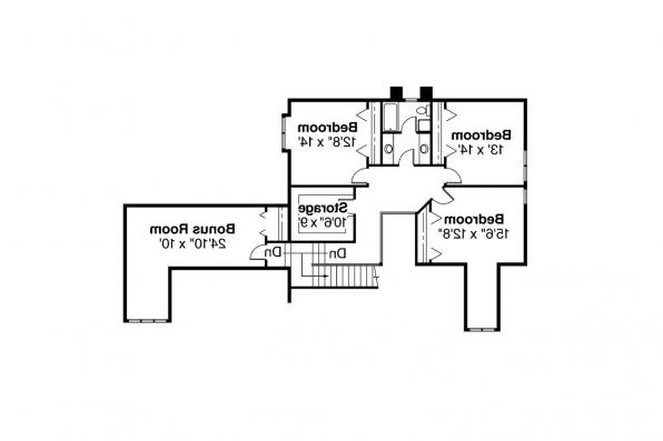 Tudor House Plan - Walbrook 10-070 - 2nd Floor Plan