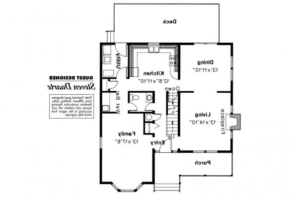 Victorian House Plan - Astoria 41-009 - 1st Floor Plan