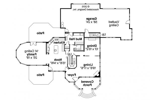 Victorian House Plan - Canterbury 30-516 - First Floor Plan