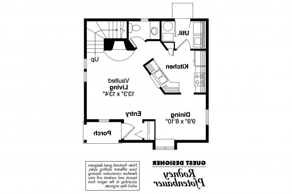 Victorian House Plan - Isabelle 42-009 - 1st Floor Plan