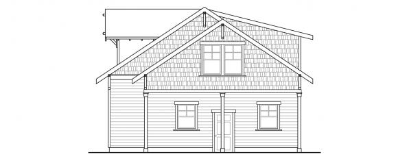 Garage w/Recreation Room - 20-111 - Garage Plan - Left Elevation