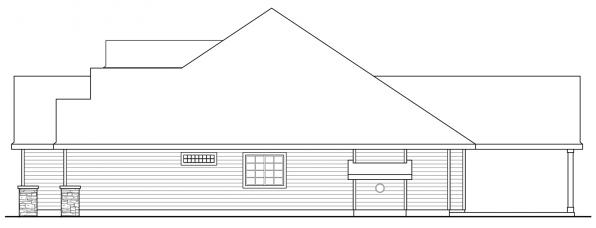 Jamestown - 30-827 - Ranch Home Plans - Left Elevation