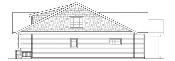 Cedar Ridge - 30-855 - Craftsman Home Plan - Left Elevation