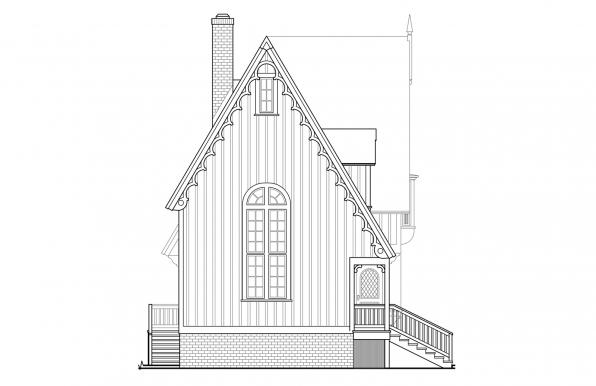 Langston - 42-027 - Victorian Home Plans - Left Elevation