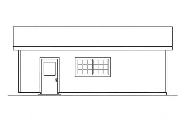 1 Car Garage Plan 20-004 - Left Elevation