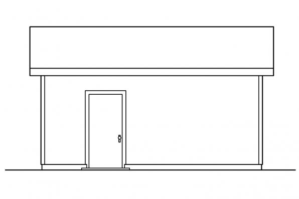 1 Car Garage Plan 20-045 - Left Elevation