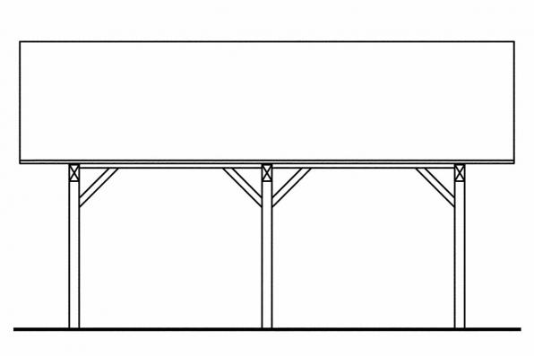 2 Car Carport Plan 20-062 - Left Elevation