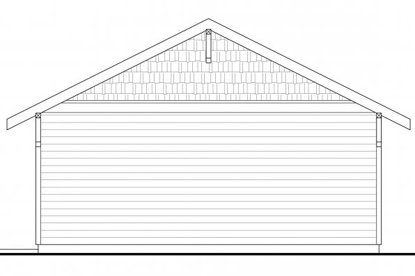 2 Car Garage Plan - Right Elevation