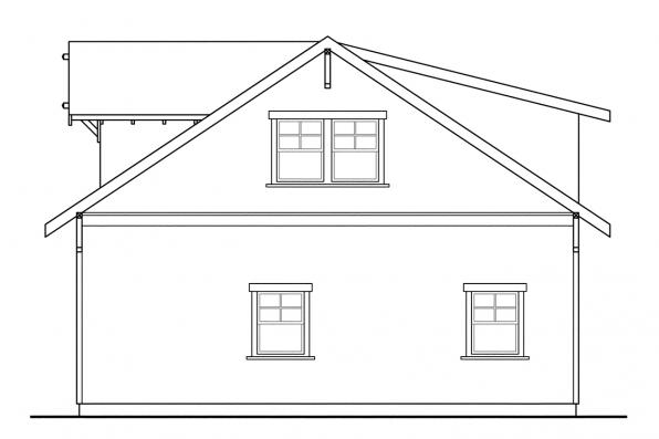 2 Car Garage Plan 20-007 - Left Elevation