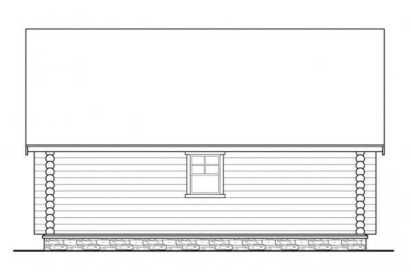 2 Car Garage Plan 20-012 - Left Elevation