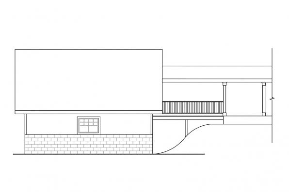 2 Car Garage Plan 20-013 - Left Elevation