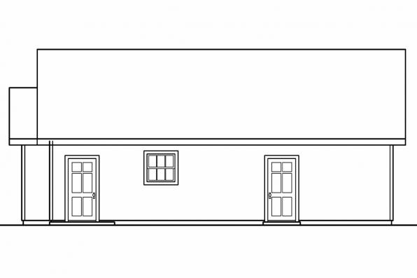 2 Car Garage Plan 20-040 - Left Elevation