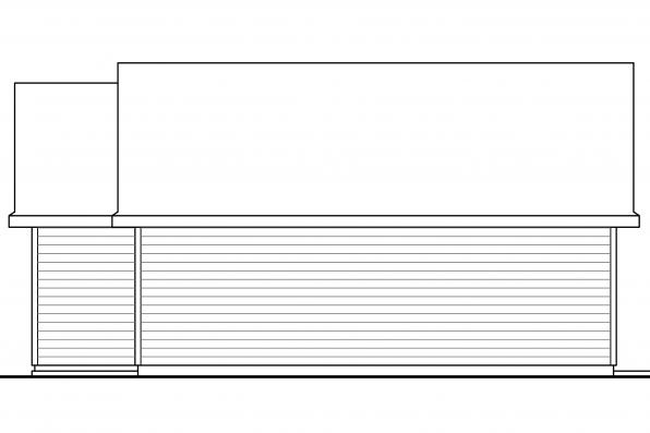 2 Car Garage Plan 20-116 - Right Elevation