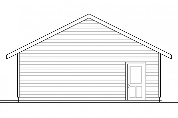 2 Car Garage Plan 20-140 - Left Elevation