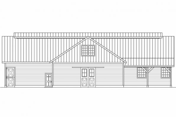 2 Story Barn Design 20-047 - Right Elevation