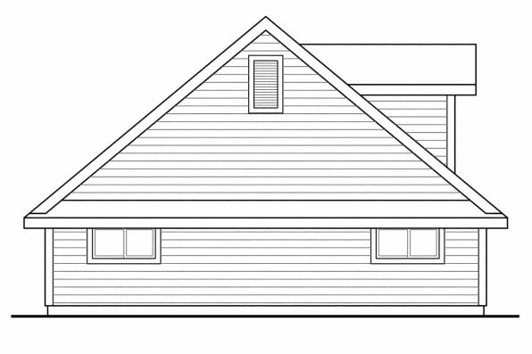 2 Story Garage Plan 20-074 - Right Elevation