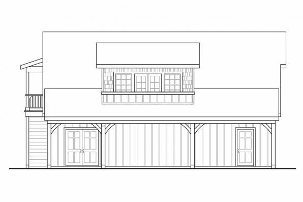 2 Story Garage Plan 20-080 - Right Elevation