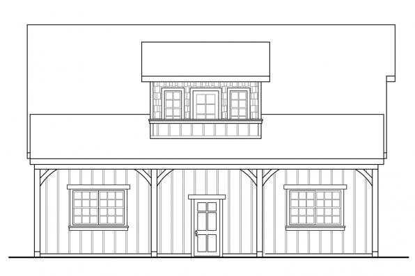 2 Story Garage Plan 20-099 - Right Elevation