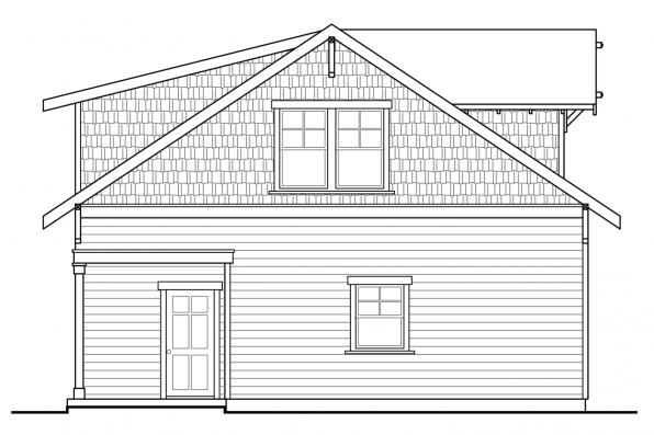2 Story Garage Plan 20-111 - Right Elevation