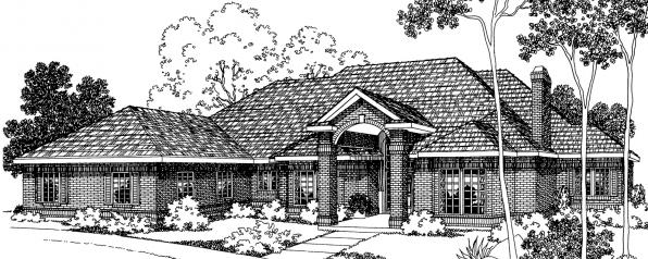 Brentwood - 30-007 - Classic Home Plans - Front Elevation