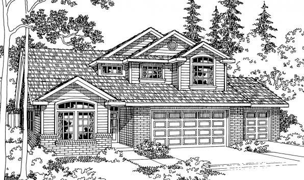 Valemont - 30-163 - Traditional Home Plan - Front Elevation