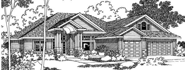 Asbury - 30-237 - Contemporary Home Plan - Front Elevation
