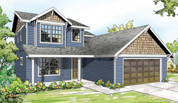 Paisley - 30-852 - Country Home Plan - Front Elevation