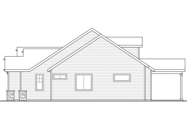 3 Bedroom House Plan - Azalea 31-028 - Right Elevation
