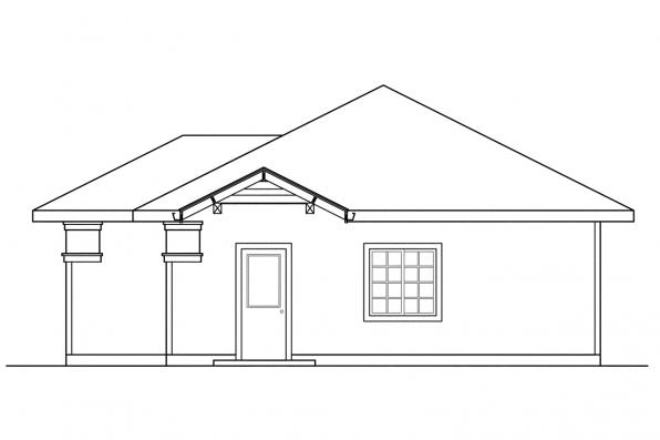 3 Car Garage Plan 20-011 - Left Elevation